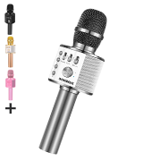BONAOK BKMK002H12RG Wireless Bluetooth Karaoke Microphone