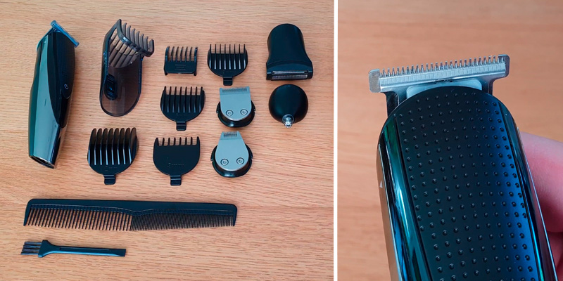 Review of Hatteker 5 In 1 Hair Clipper Beard Trimmer Grooming kit