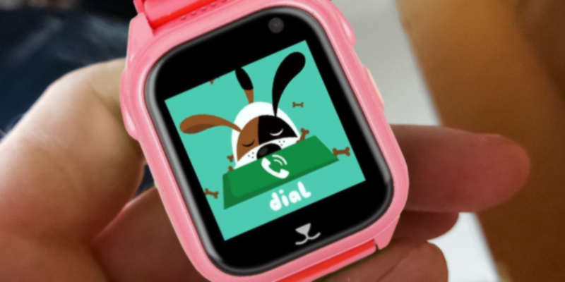 GBD S8 Kids Smart Watch with GPS Tracking in the use