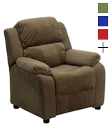 Flash Furniture BT-7985-KID-MIC-BRN-GG Deluxe Heavily Padded Microfiber Kids Recliner