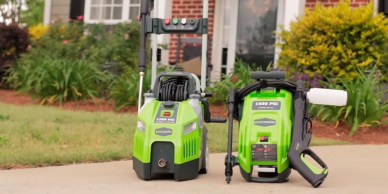 GreenWorks GPW1950 Quiet Motor Electric Pressure Washer in the use