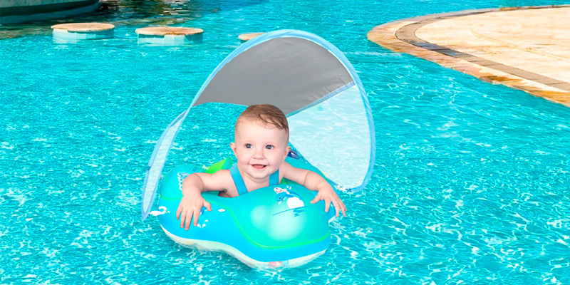 Review of LAYCOL Inflatable Ring with Canopy Baby Swimming Float