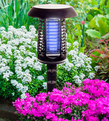 Review of GreenLighting Solar Powered UV LED Bug Zapper & Lantern