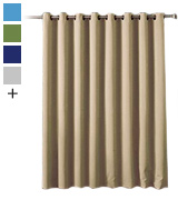 Rose Home Fashion FBA_bl-be-10084 Wide Thermal Blackout Patio Door Curtain Panel
