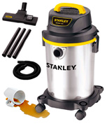 Stanley SL18129 4 Gallon Wet Dry Vacuum, Stainless Steel Tank
