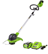 GreenWorks 2101602 12-Inch 40V Cordless String Trimmer, 2.0 AH Battery Included