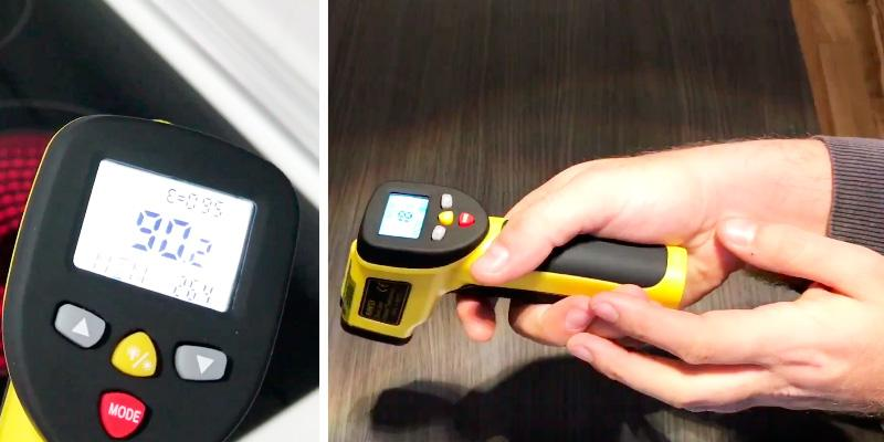Avantek TG-3Y Dual Laser Infrared Thermometer in the use