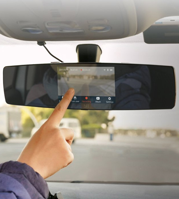 Review of YI C1C Mirror Dash Cam with Touch Screen