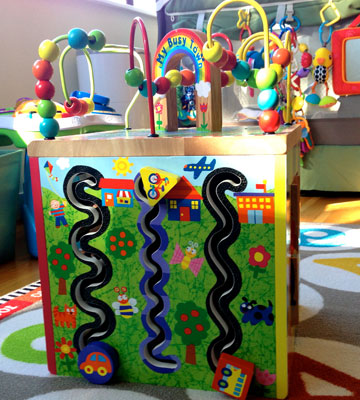 Review of ALEX Jr. My Busy Town Wooden Activity Cube