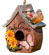 Dawhud Direct DHA-583 Decorative Hand-Painted Bird House