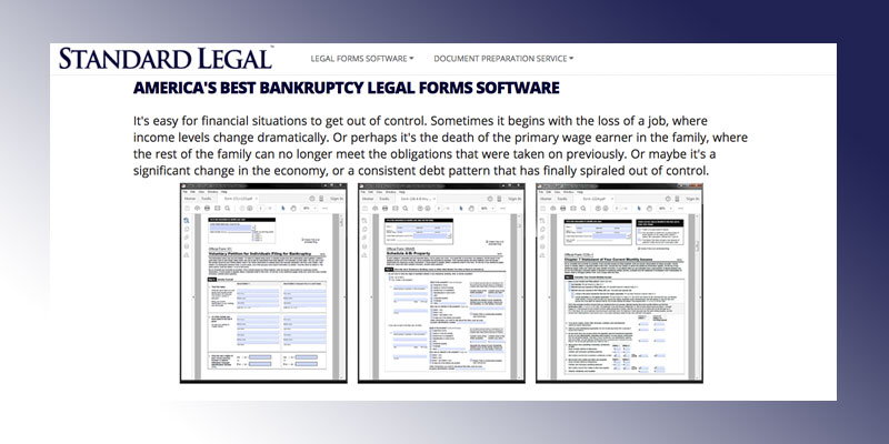 Review of Standard Legal Bankruptcy Legal Forms Software