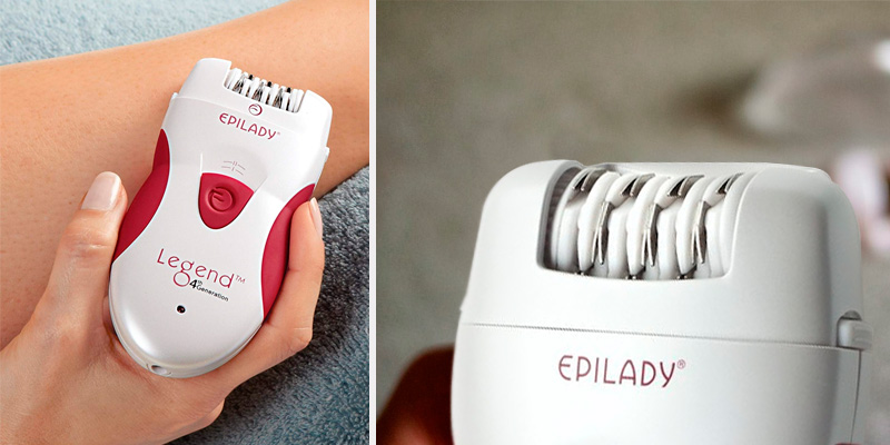 Epilady Legend 4 Epilator Hair Removal Epilator in the use