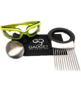 Gadget Chef Free Micro Fiber Case Set Onion Goggles with Onion Holder & Odor removing soap
