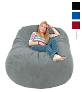 Cozy Sack 6-BB-GREY 6-Feet Bean Bag Chair, Large, Grey