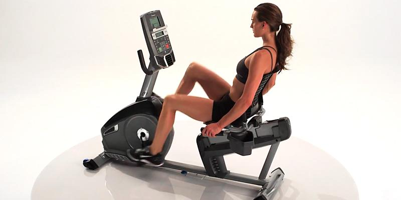 Nautilus R614 Recumbent Bike in the use