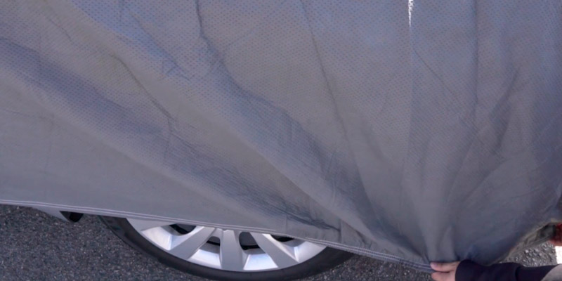 Motor Trend AUTO ARMOR All Weather Proof Universal Fit Car Cover in the use