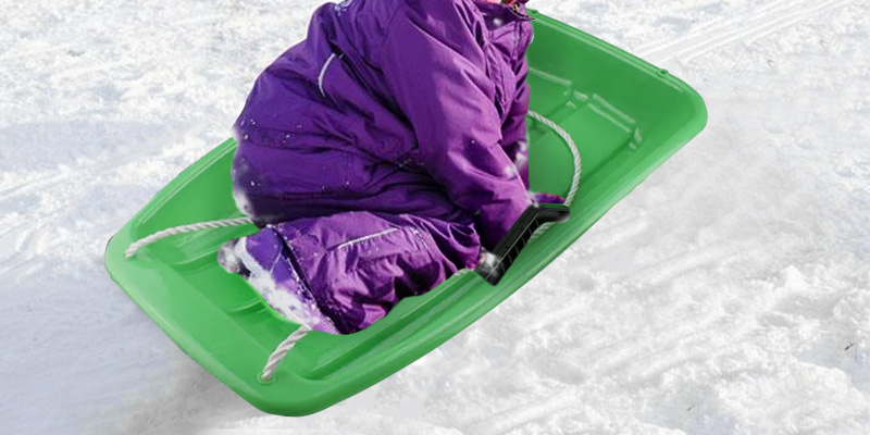 Review of Best Choice Products 35in Kids Plastic Toboggan Snow Sled with Pull Rope