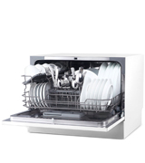 hOmeLabs HME010033N Portable Mini Dish Washer with 6 Place Setting Rack
