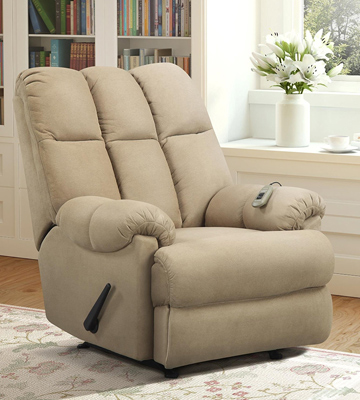 Review of Dorel Living 75-3MT Padded Dual Massage Recliner