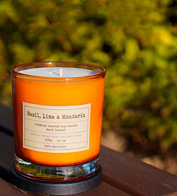 Review of CoCo Benjamin Basil, Lime & Mandarin Hand Poured Soy Candle