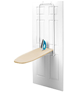 HOMZ 4785025 Over-the-Door Steel Top Ironing Board with Free Set of Dryer Balls