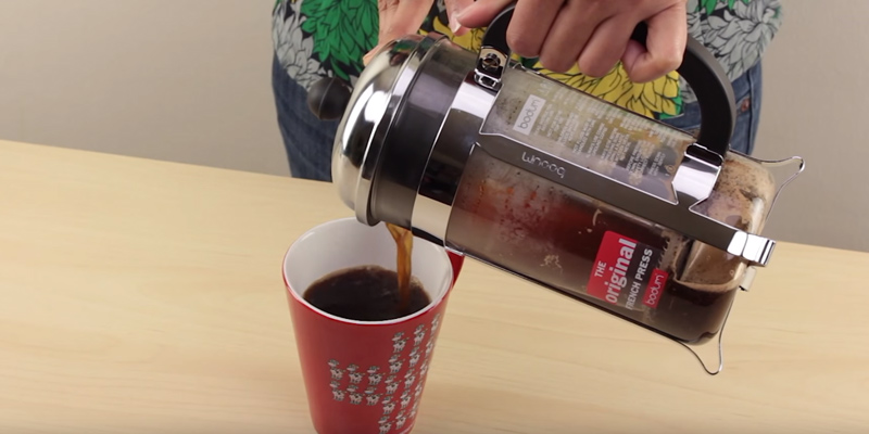 BODUM Chambord 8 cup French Press Coffee Maker in the use