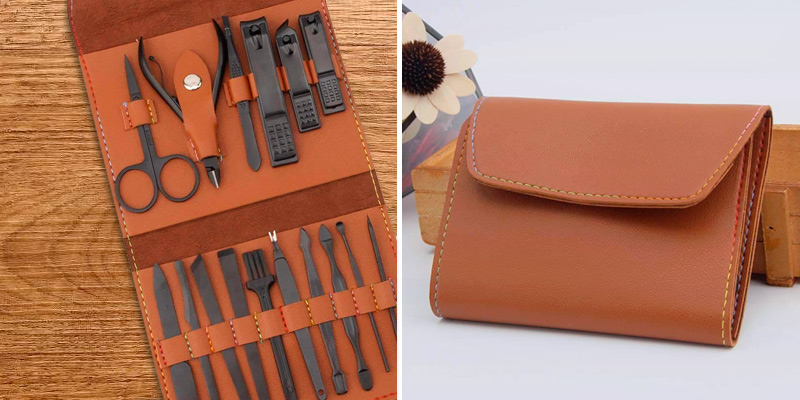 Review of AIWOGEP 16 Pieces Manicure Set with PU Leather Case