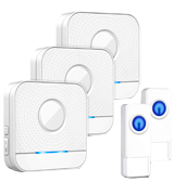 Bistee B082T3 Wireless Doorbell IP55 Waterproof Chime Kit