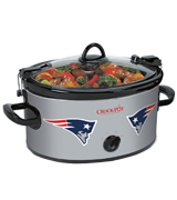 Crock-Pot SCCPNFL600-NE New England Patriots NFL 6-Quart Cook & Carry Slow Cooker