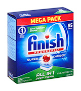 Finish All in 1 Powerball Mega Pack, 85 Tablets