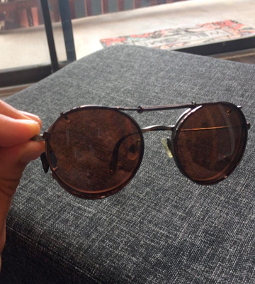 Review of Sunglass Rage 48mm x 46mm Semi Round Polarized Clip on Sunglasses