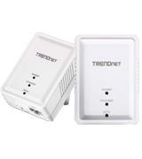 TRENDnet TPL-406E2K 500 AV Mini Network Starter Kit, Includes 2 x TPL-406E Adapters