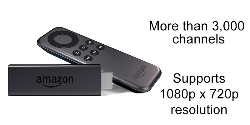 Amazon Fire TV Stick in the use