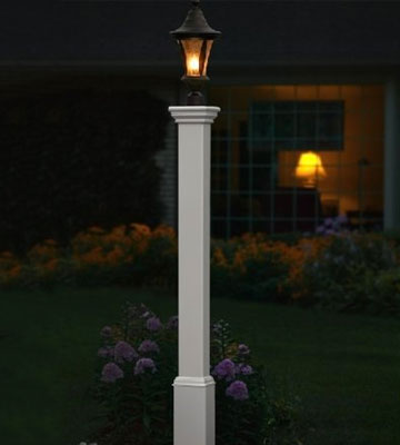 Review of New England Arbors Madison Vinyl Lamp Post