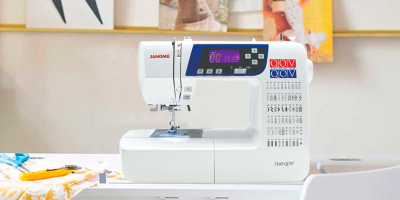Janome 3160QOV Quilts of Valor Sewing Machine in the use