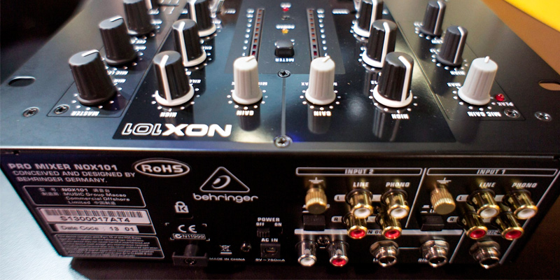 Behringer NOX101 2-Channel DJ Mixer in the use