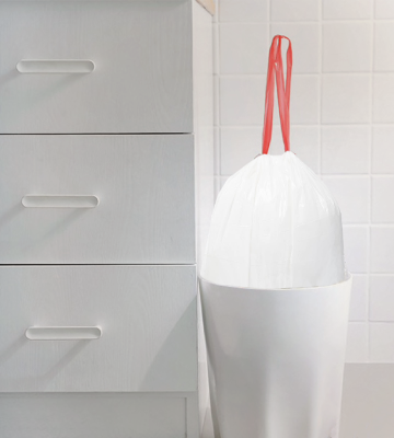 Review of Solimo Tall Kitchen Drawstring Trash Bags
