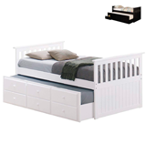 Coaster Fine Furniture Mission Style Day Bed with Trundle