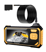 FOCLEN Industrial Endoscope (1080P 4.3-inch Screen, 6 LED Lights, 2600mAh Battery, 11.4ft)