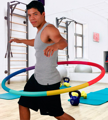 Review of Sports Hoop Trim Hoop 3B with 50 minutes Workout Lesson DVD
