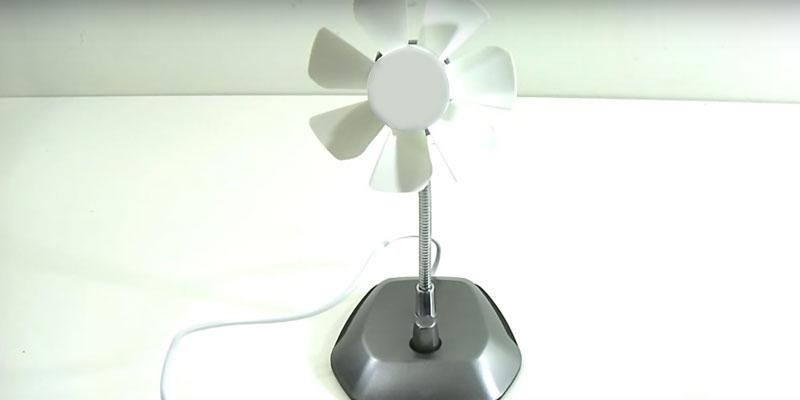 Review of Arctic Breeze USB Desktop Fan with Flexible Neck