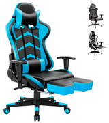 Furmax Racing Chair Gaming Chair (with Footrest, Bucket Seat and Lumbar Support)