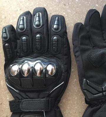 Review of ILM Alloy Steel 15S-BLACK-XL Motorcycle Riding Gloves Waterproof