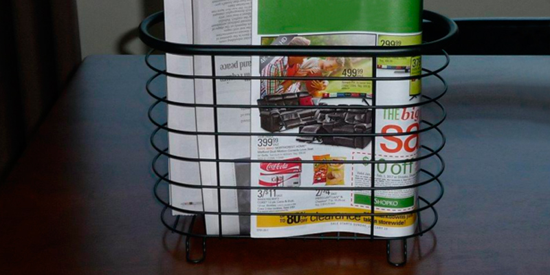 Review of MetroDecor FBA_1756MDBST mDesign Newspaper and Magazine Rack for Bathroom