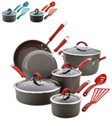 Rachael Ray 87630 Hard Anodized Nonstick 12 Piece Cookware Set