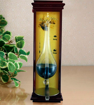 Review of Ambient Weather WS-YG634 Antique Storm Glass Barometer with Cherry Wood Frame