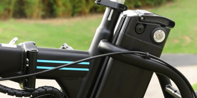 Ancheer Folding Electric Commuter Bike in the use