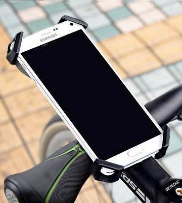 Review of Visnfa PB04-AC Bike Phone Mount with Stainless Steel Clamp Arms