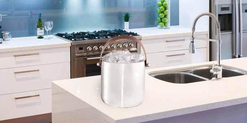 Francois et Mimi 6IRZTIDE Ice Bucket with Ice Tongs in the use