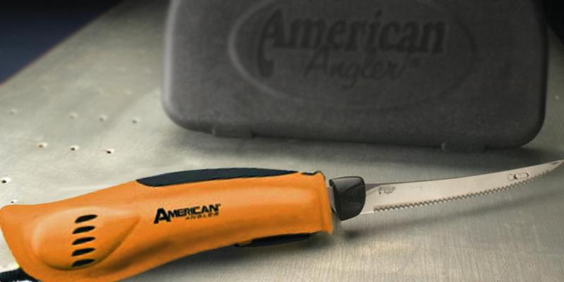 American Angler Pro Electric Fillet Knife in the use